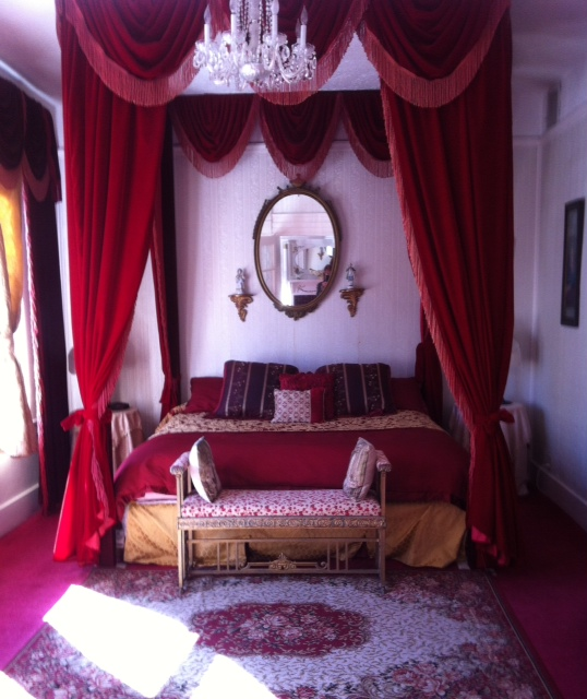 The bedroom at the Bisbee Grand Hotel!