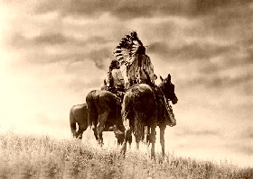 Cheyenne Warriors painted by Edward S. Curtis.